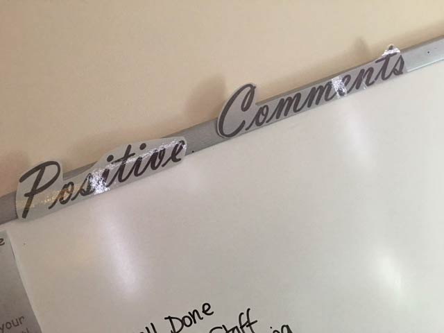 Positive comments board